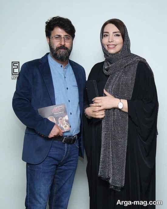 هومن حاجی عبدالهی و همسرش