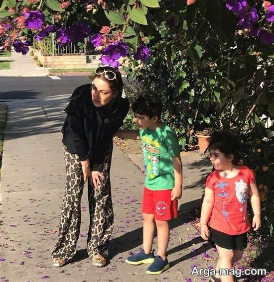 عکسی جالب از شیلا خداداد و فرزندانش