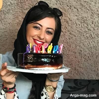 کیک تولد نفیسه روشن