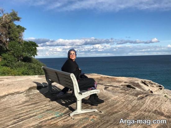 عکس ساحلی پانته آ بهرام در سفر سیدنی