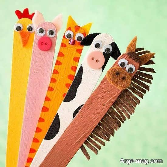 کاردستی به شکل حیوانات با چوب بستنی