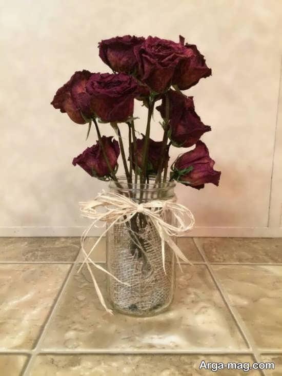 تزئین ساده و جذاب از گل خشک