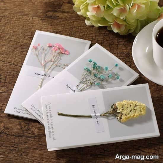 تزیین گل خشک در تنگ بلور