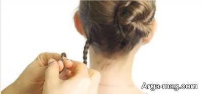 بستن قمست پایینی مو با کش