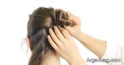 بستن موها با سنجاق سر