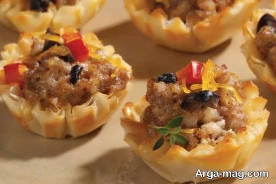 تزیین غذای خوش مزه و ترکیبی فینگر فود