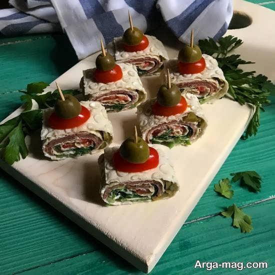 تزیین فینگر فود غذایی آماده و خوش مزه