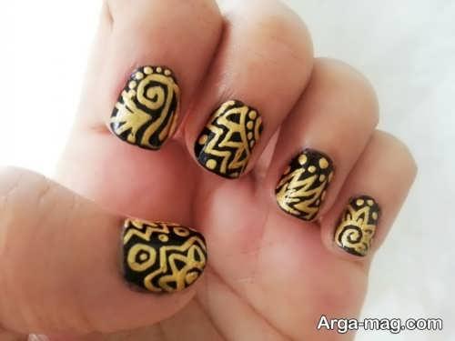 طراحی ناخن مجلسی و طلایی