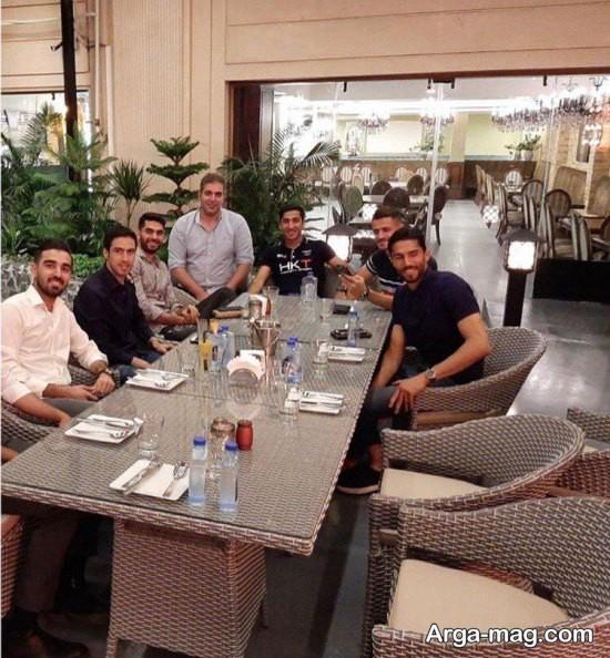 جمع بازیکنان اسقلال در رستوران خسرو حیدری