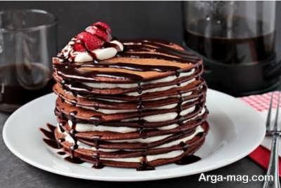 روش تهیه پنکیک شکلاتی