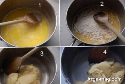 طرز تهیه شیرینی نان خامه ای