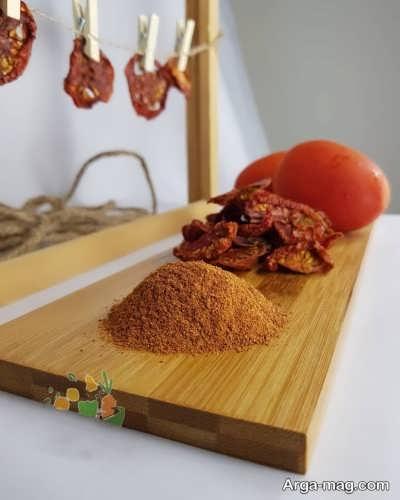 طرز ساختن پودر گوجه به روش آسان