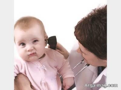 عفونت گوش نوزاد و علائم آن