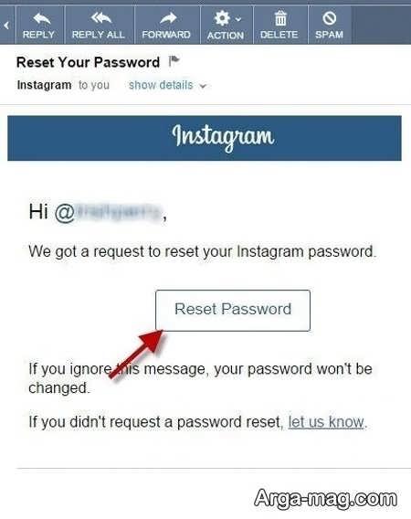 فراموش کردن رمز عبور اینستاگرام