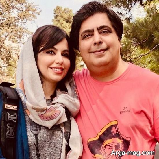 رضا شفیعی جم همراه خواهرش