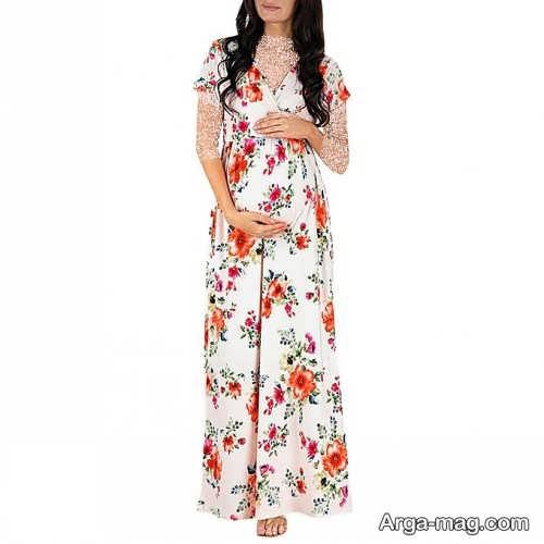 لباس بارداری زیبا و گلدار