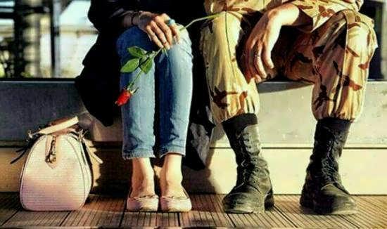 ایده پروفایل عاشقانه سربازی