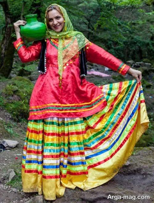 مدل لباس رنگی
