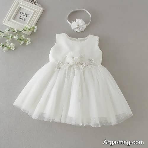 مدل لباس کودک یک ساله سفید