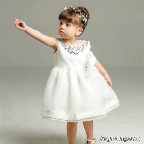لباس سفید دخترانه