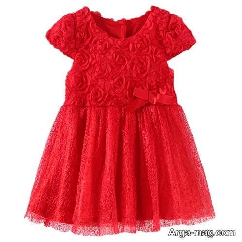مدل لباس قرمز کودک