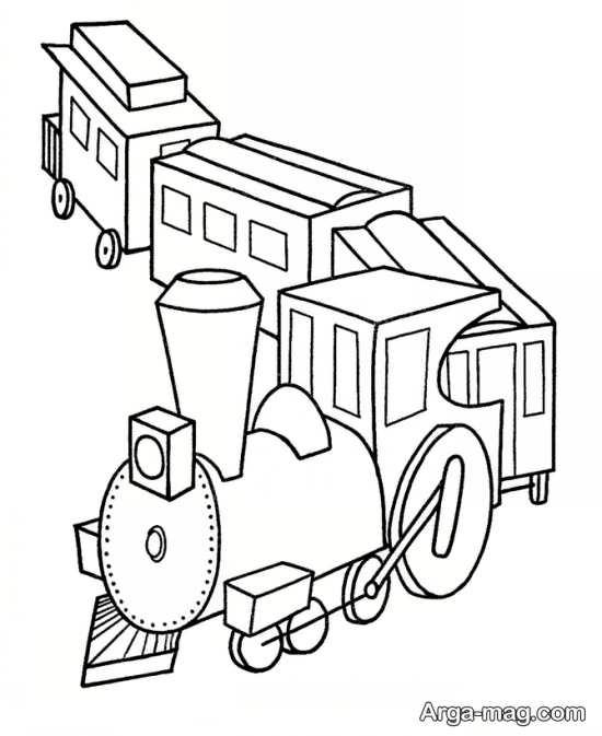 مجموعه خاص از نقاشی و رنگ آمیزی قطار