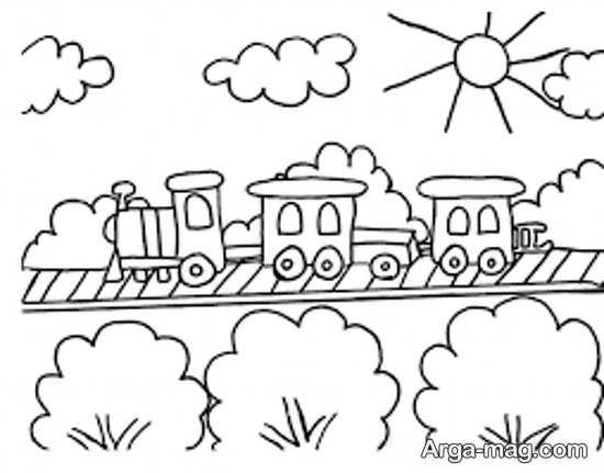 نقاشی و طراحی زیبای ریل و قطار