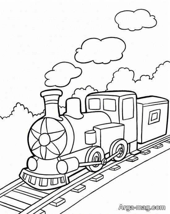نقاشی و طراحی خاص قطار