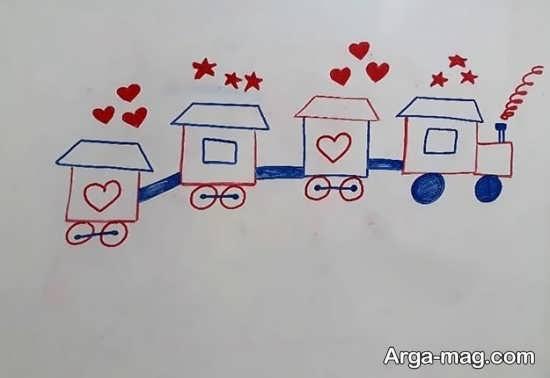 آموزش نقاشی و طراحی زیبای قطار