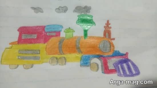 نقاشی دوست داشتنی قطار