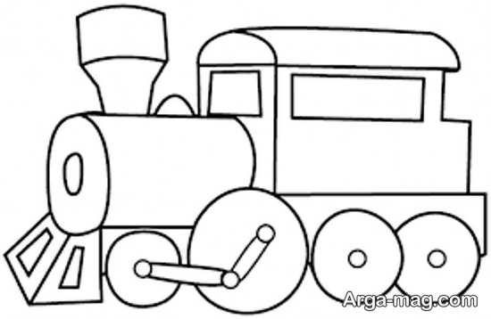 نقاشی و رنگ آمیزی قشنگ قطار