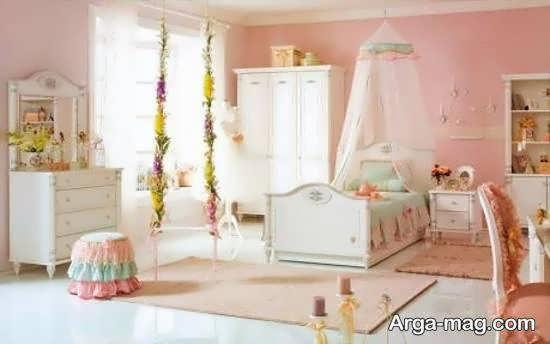 دکوراسیون زیبا و جذاب اتاق خواب با ترکیب رنگ ها