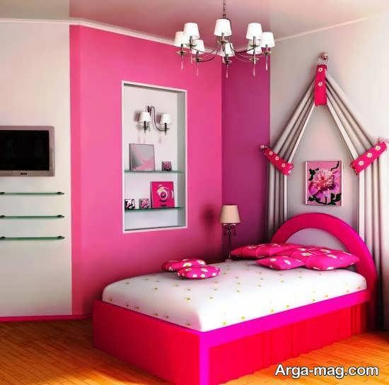 دکوراسیون اتاق خواب صورتی با جذابیت و محبوبیت بالا