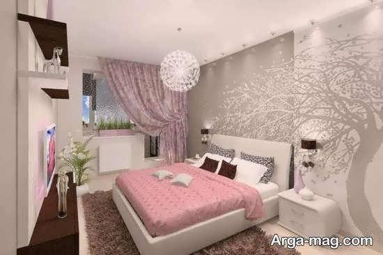 دکوراسیون اتاق خواب با رنگ زیبا و جذاب