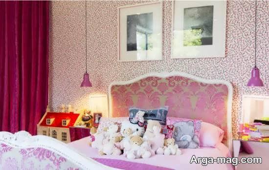 دکوراسیون اتاق خواب صورتی با ایده های خلاقانه