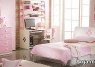 دکوراسیون اتاق خواب صورتی زیبا و فانتزی