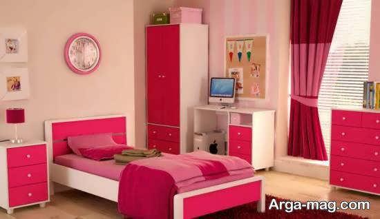 دکوراسیون اتاق خواب صورتی دوست داشتنی و زیبا