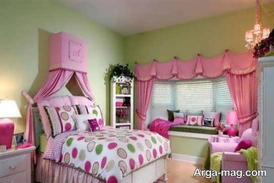 دکوراسیون اتاق خواب صورتی زیبا و جذاب