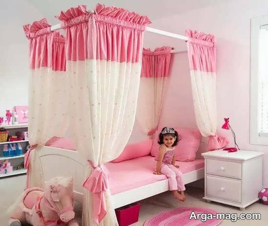 انواع دیزاین خلاقانه اتاق خواب با رنگ جذاب صورتی