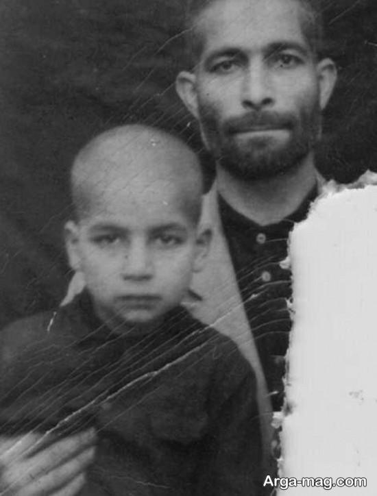 کودکی حسن روحانی در کنار پدرش