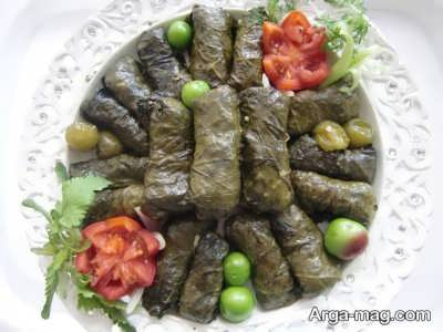 مواد اولیه جهت تهیه دلمه برگ لبنانی