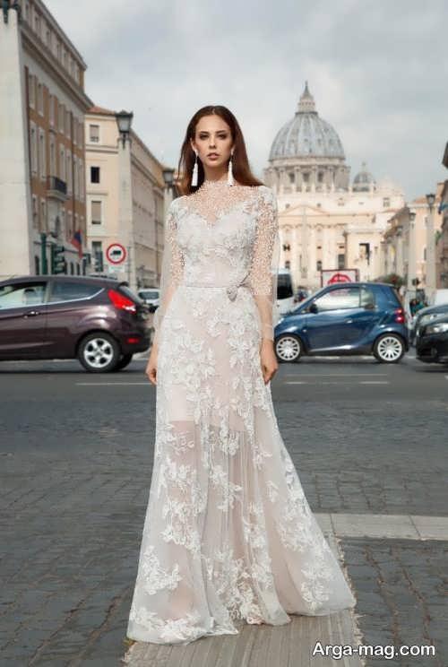 لباس عروس کار شده