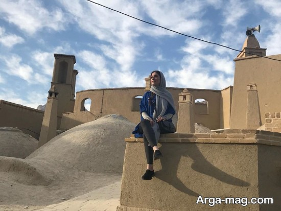 عکس هنری متین ستوده در بناهای یزد