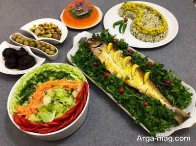 تزیی سبزی پلو