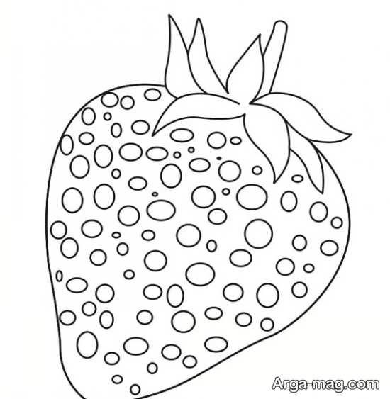 تصویر جذاب از نقاشی میوه توت فرنگی