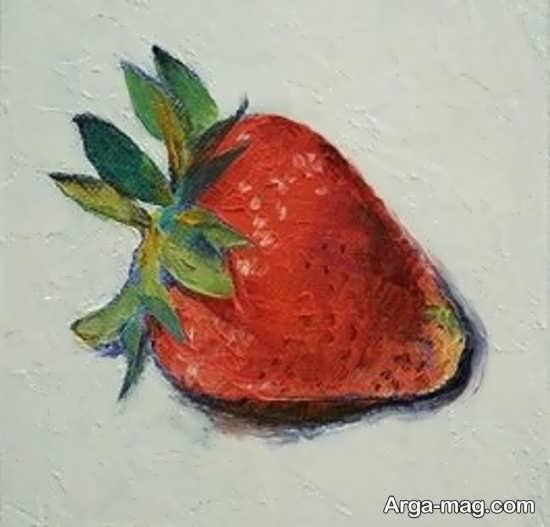 انواع نقاشی میوه توت فرنگی