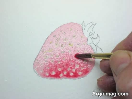 مجموعه زیبا از نقاشی میوه توت فرنگی