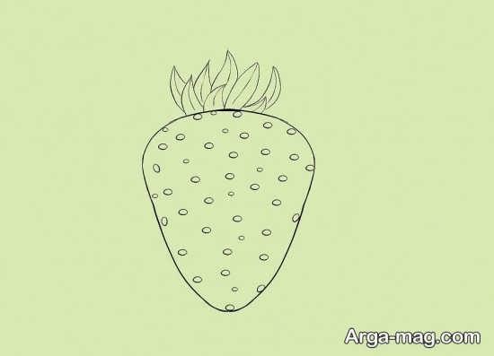 مجموعه متنوع از نقاشی میوه توت فرنگی