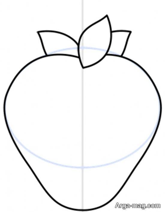 نقاشی و طراحی میوه توت فرنگی