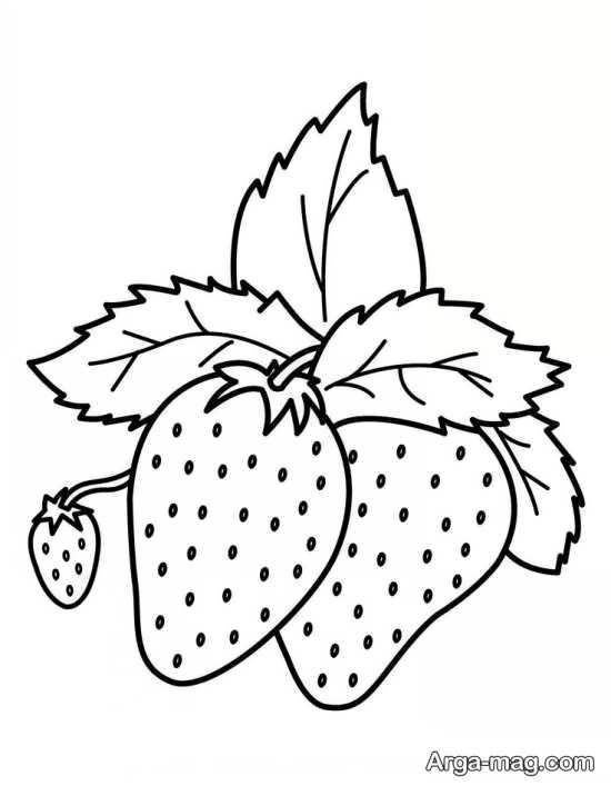 نقاشی جذاب میوه توت فرنگی